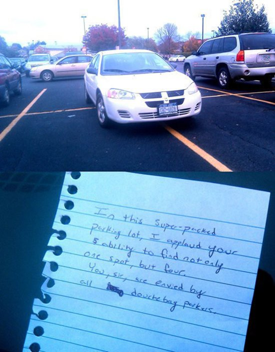 11 amusing notes left for inconsiderate parkers part 2