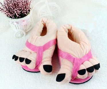 big feet slippers pink