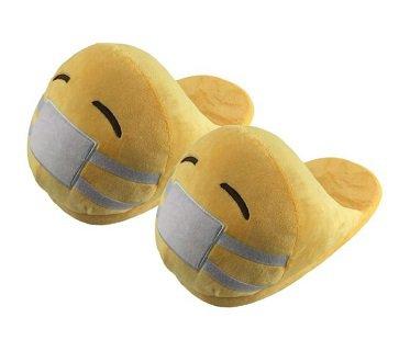 emoji slippers mask