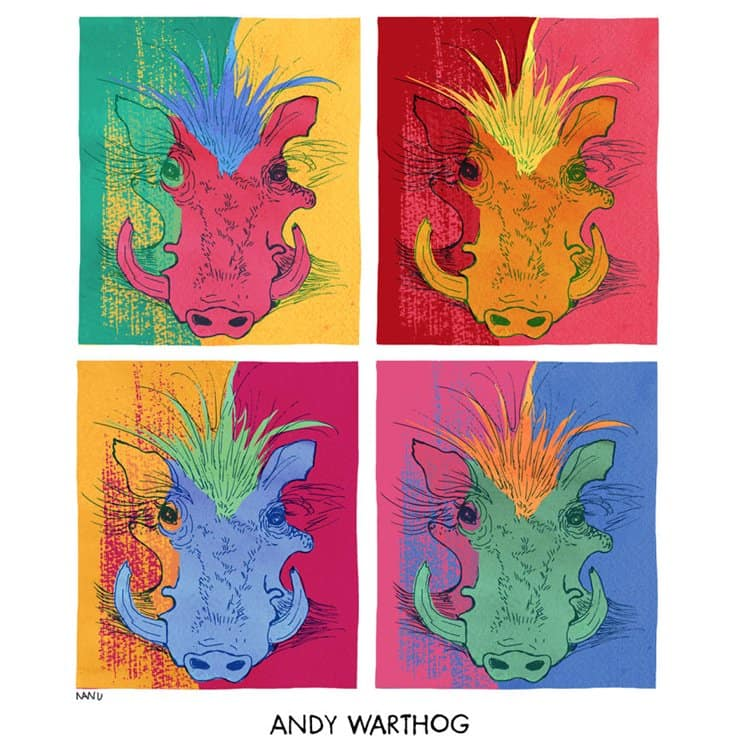 famous-animals-in-art-history-andy-warthog