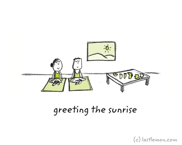 greeting sunrise