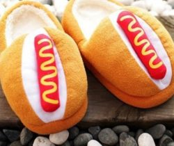 hot dog slippers