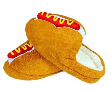 hot dog slippers buns