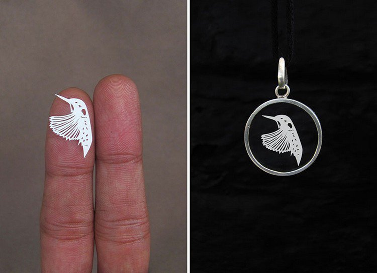 hummingbird papercut