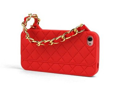 iPhone purse case red