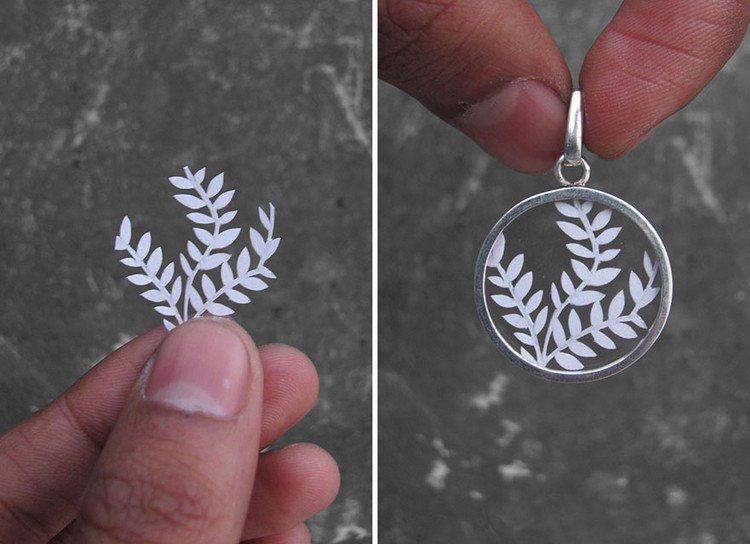 leaves papercut