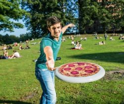 pizza flying disc