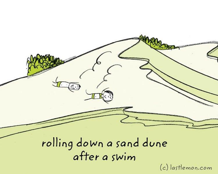 sand swim