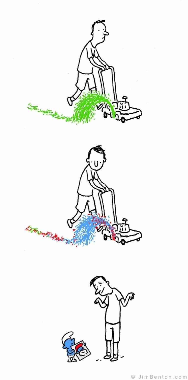 smurf mower