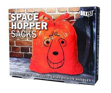 space hopper trash bags box