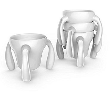 stackable mugs white