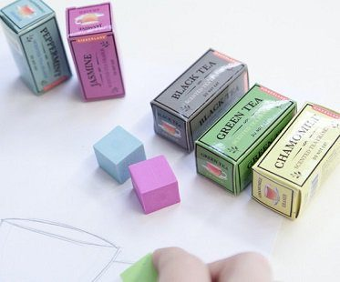 tea scented erasers
