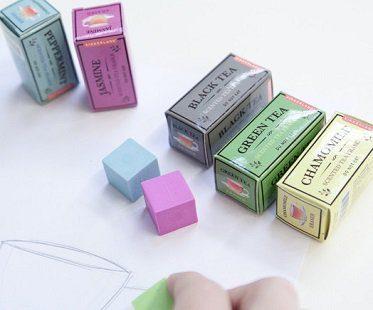 tea scented erasers