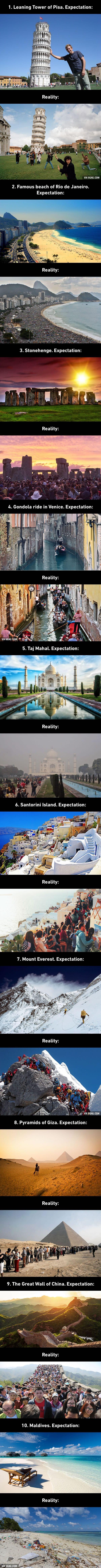 travel expectations v reality
