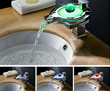 Color Changing Waterfall Faucet colours