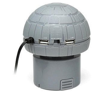 Death Star USB Car Charger ports
