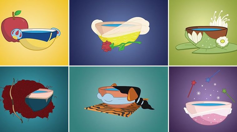 Disney Princesses Bowls Of Water