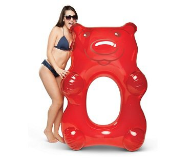Giant Gummy Bear Pool Float red