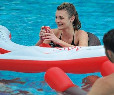 Inflatable Pool Bar Set drinks