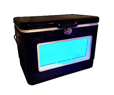 LED party cooler blue