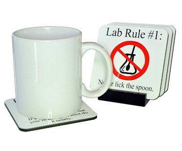 Lab Rules Coaster Set mug