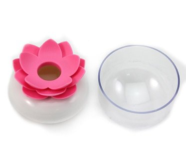 Lotus Flower Cotton Bud Holder pink