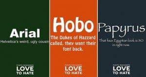 Overused Fonts Criticized Designers