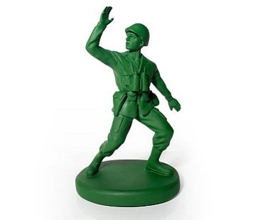 Toy Soldier Door Stop green