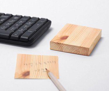 Wood Piece Memo Pad