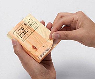 Wood Piece Memo Pad notes