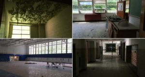 abandoned high school