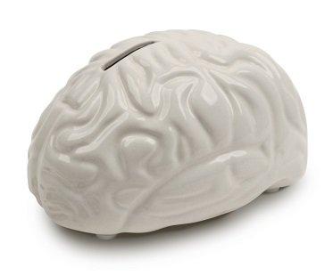 brain money bank white