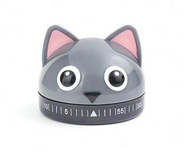 cat kitchen timer grey