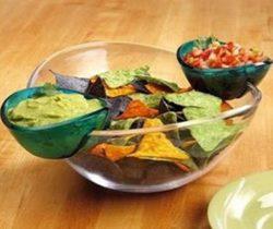 chips and dips bowl set