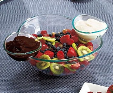 chips and dips bowl set fruit