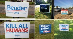 funny presidential signs
