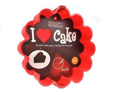 heart cake slice mold baking