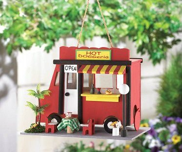 hot dog truck birdhouse
