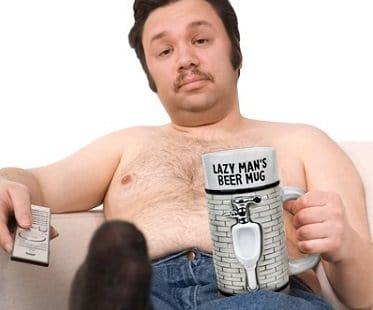 Lazy Man S Beer Mug