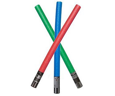 lightsaber pool noodle colours