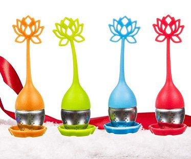 lotus flower tea infuser colours