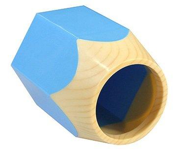 pencil pot desk tidy blue