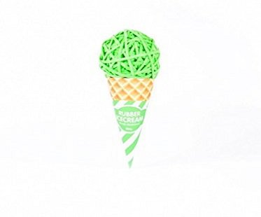 rubber band ice cream ball green