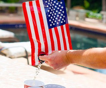 American Flag Drink Flask