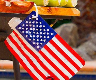 American Flag Drink Flask hang