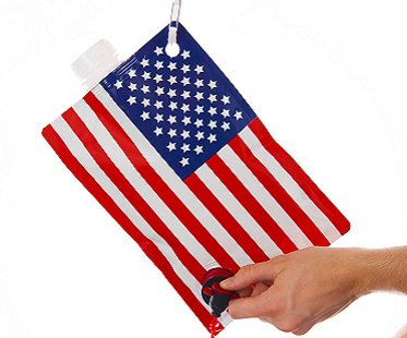 American Flag Drink Flask party