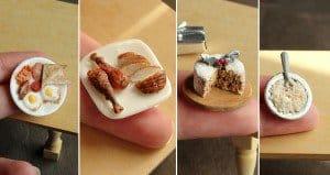 Clay Miniature Food Sculptures