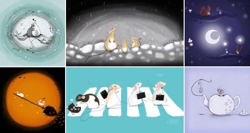 Cute Rat Illustrations Nadyart