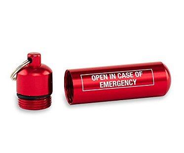 Emergency Keychain Capsule money