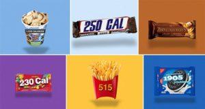 Food Logos Re-designed Calorie Count